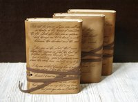 Custom leather journal personalized text script notebook genuine leather travel journal notebook sketchbook|Notebooks| |  -