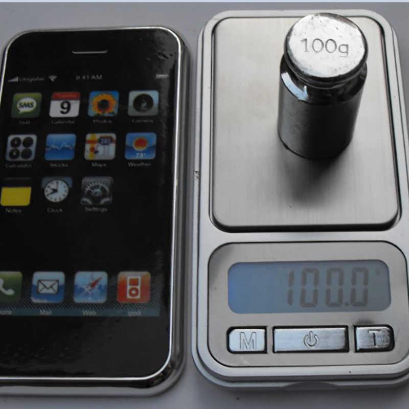 Mini balance numérique multifonction balance de poche Portable téléphone design Style plate-forme de pesage en acier inoxydable rétro-éclairage balance de bijoux