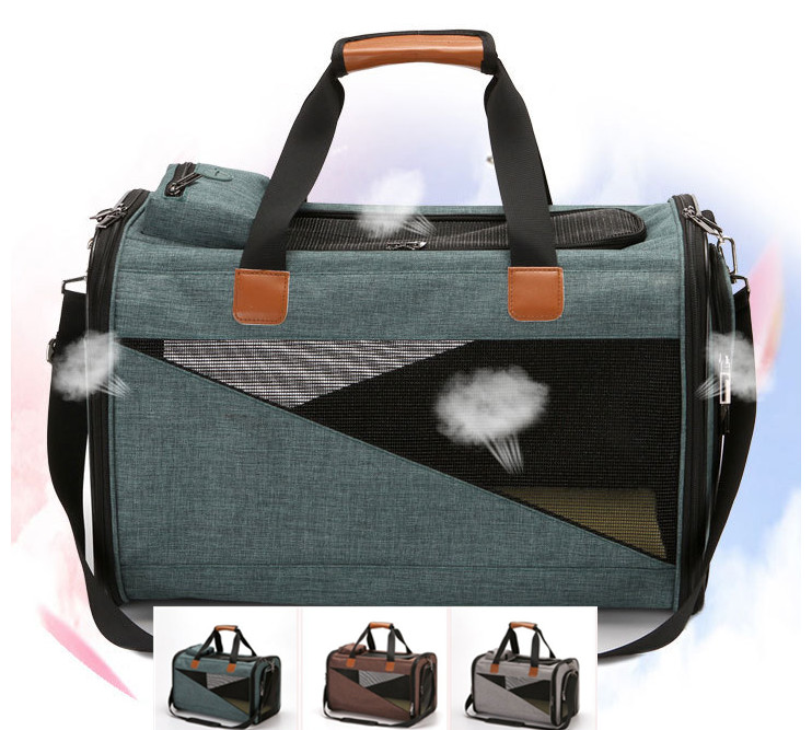 linen pet dog puppy cat travel bag carrier for pet outdoor carried bag three colors