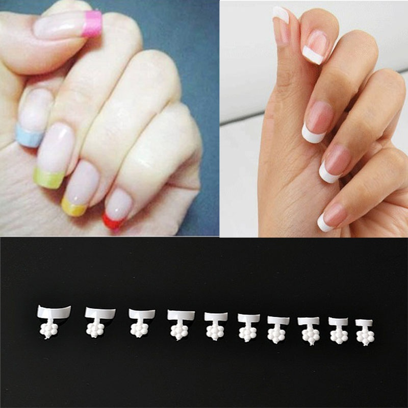 Hot 500 PCS Short White French Manicure Wrap Nail Tips False Nail ...