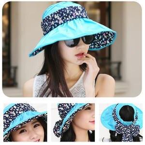 30c59852 Cap Summer Beach Sun Hat Foldable Wide Brim Women's