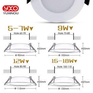 Image 4 - 1pcs 디 밍이 가능한 방수 led 통 ac110v 220 v 7 w/9 w/12 w/15 w/18 w/25 w/50 w led 전구 빛 recessed led 스포트 라이트 욕실