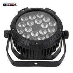 10 Buah Tahan Air LED Flat Par 18X12 W RGBW DMX512 Tahap Efek Pencahayaan untuk Kolam Renang Outdoor DJ pesta Disko Bar Klub Malam