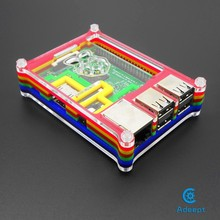 Adeept Rainbow Pibow for Raspberry Pi 2  model B  Colorful Case Shell Enclosure headphones diy diykit