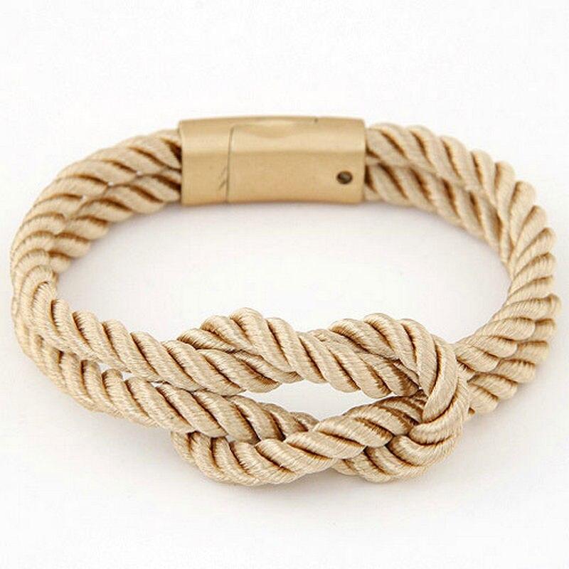 Vruće trendi modni pleteni konop lanac s magnetskom kopčom luk - Modni nakit - Foto 4