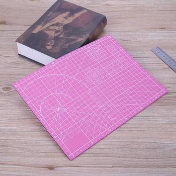 Różowy Cutter Plastikowe Maty Do Cięcia PCV Samoleczenia A4 Biuro/Szkoła Patchwork Craft DIY Narzędzia Dwustronna Cięcia płyta bricolage