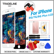 High Quality Display For iPhone 6 8 8Plus LCD For iPhone 7 7Plus Screen With 3D Touch Digitizer Assembly Pantalla No Dead Pixel все цены