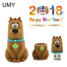 2018 new year real capacity cartoon puppy USB flash drive 4GB 8GB 16GB 32GB 64GB External