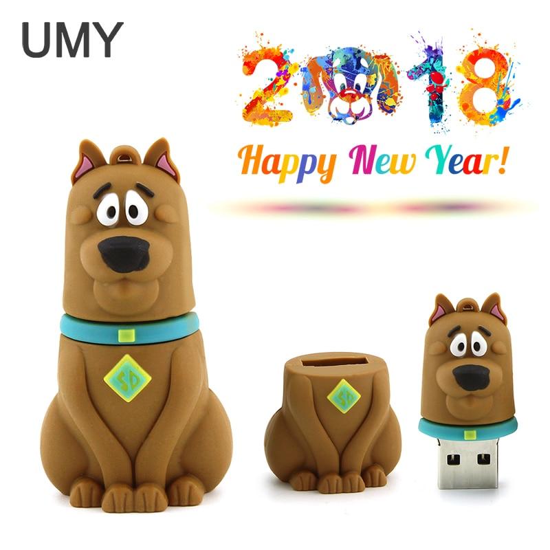 2018 new year real capacity cartoon puppy USB flash drive 4GB 8GB 16GB 32GB 64GB font