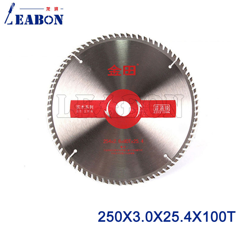 """LEABON 10""""  Inches Woodworking TCT Circular Saw Blade For Wood 254 X 3.0 X 100T X 25.4/30 Mm"""