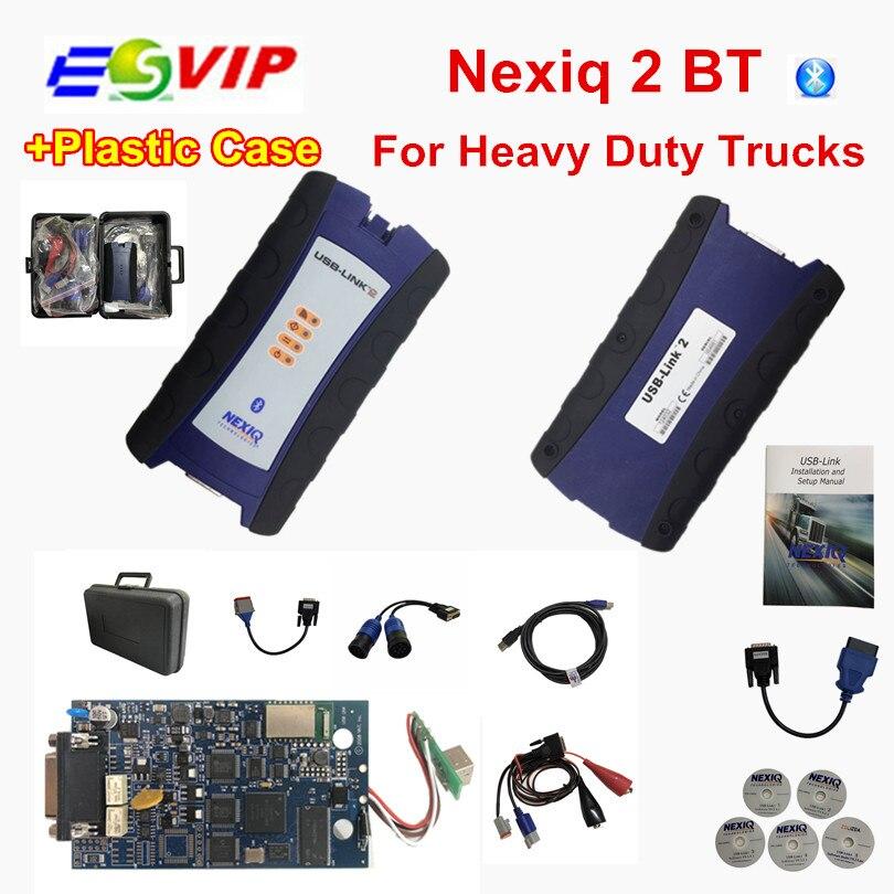 Nexiq2 USB Lien avec bluetooth Auto Heavy Duty Truck Nexiq 2 avec Bluetooth Fonction Outil De Diagnostic USB Lien Outil De Diagnostic