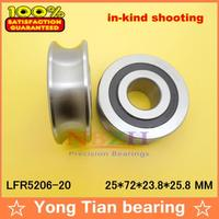 20 MM track LFR5206 20 NPP LFR5206 KDD R5206 20 2RS Groove Track Roller Bearings 25*72*23.8 mm (Precision double row balls)