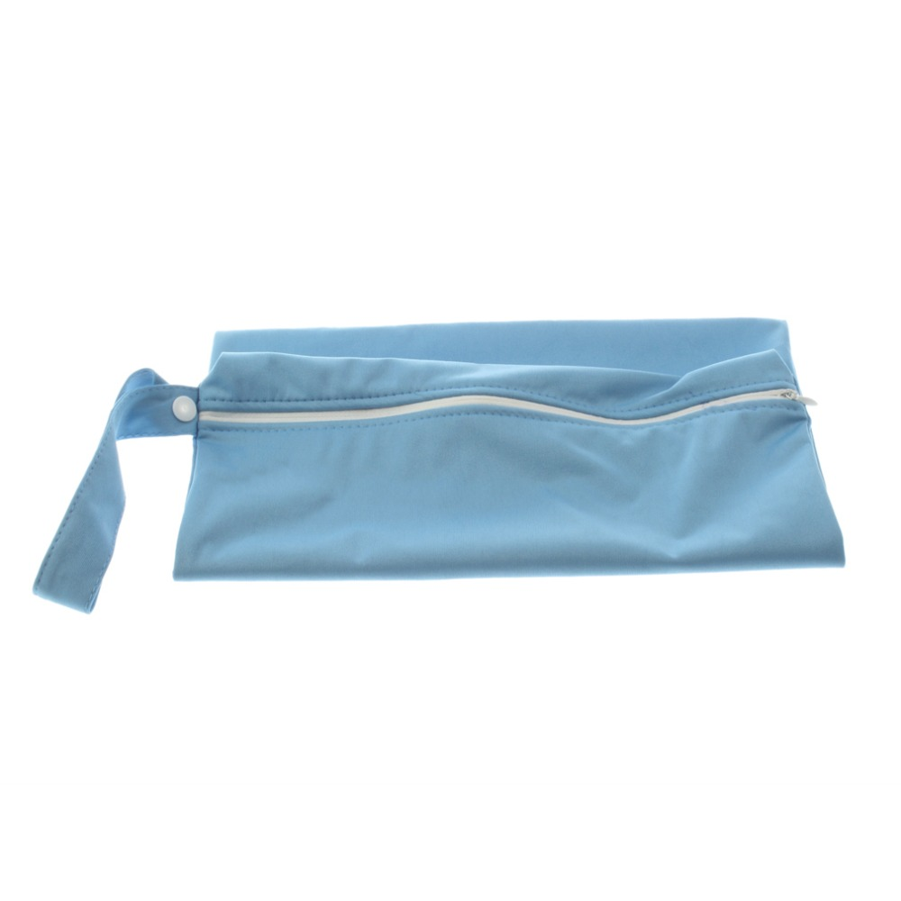 Blue Color Reusable Waterproof and Machine Washable Baby Cloth Diapers Bag