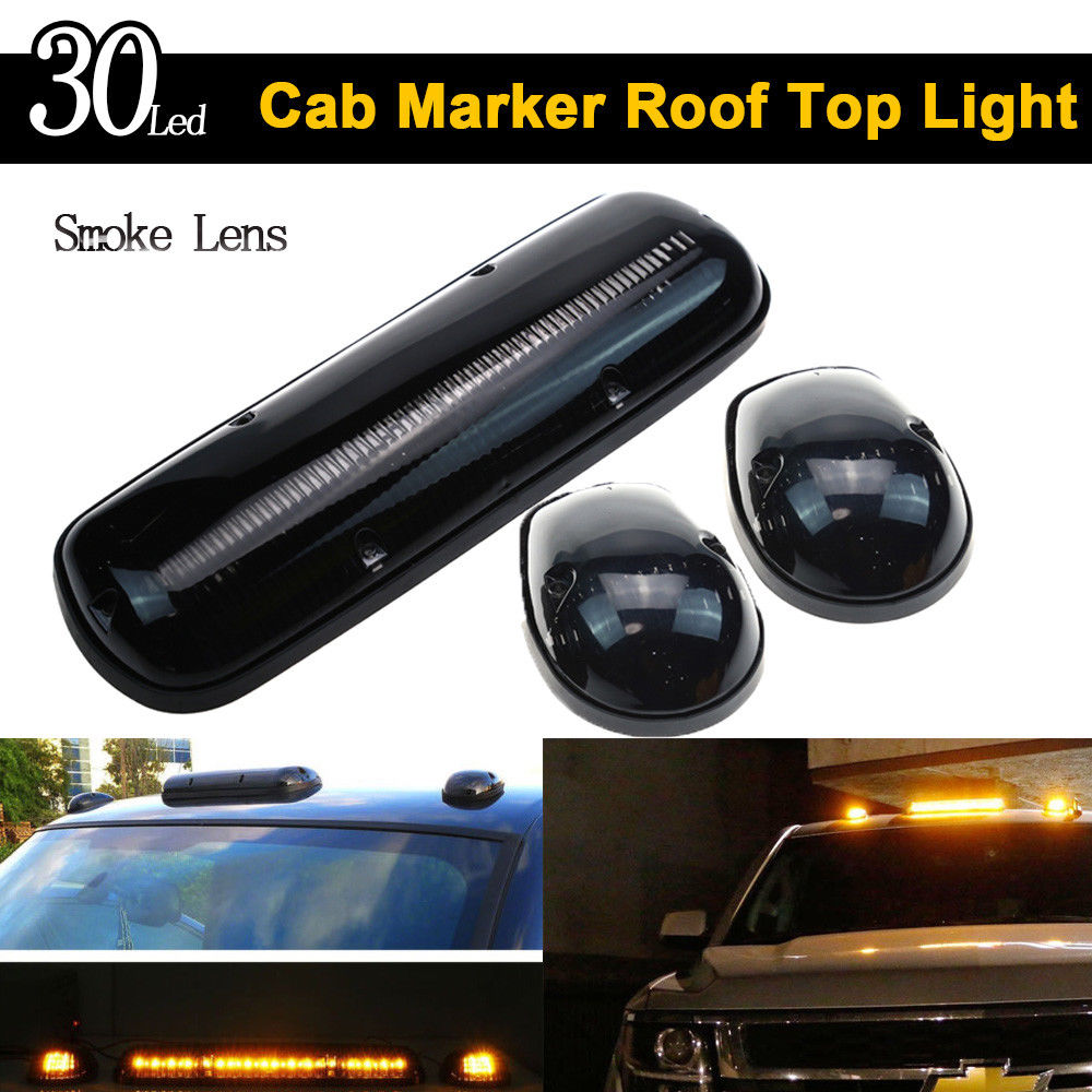 Keyecu Smoke Lens 30led Cab Marker Roof Clearance Lights Assembly 2006 Gmc Sierra Front Bumper Diagram For 2002 Silverado 1500 1500hd 2500 2500hd 3500 In Signal Lamp From