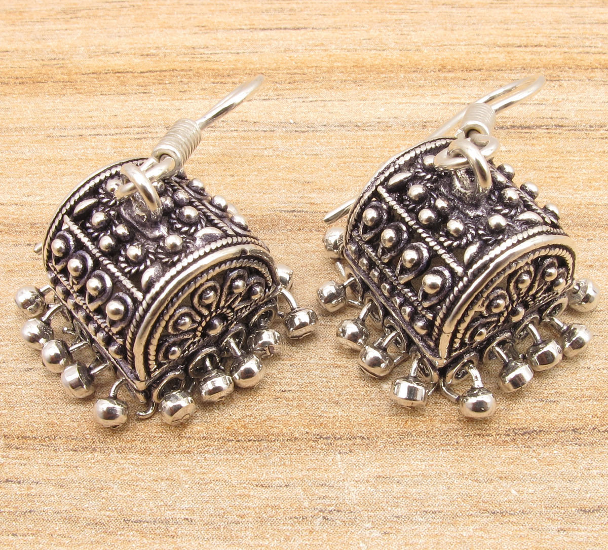 Beautiful Indian Jhumka Silver Plated Jhumki Earrings Handmade Art At In Jewelry Sets From Accessories On Aliexpress Alibaba Group