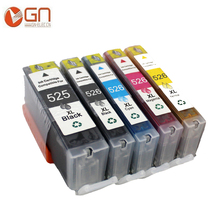 5 Pieces PGI 525XL CLI 526XL compatible Ink Cartridge for Canon PIXMA IP4850/IP4950/IX6550/MG5150/MG5250/MG5350/MG6150/MG6250