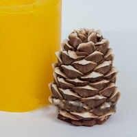 Moules en Silicone cône de pin moule à savon 3D moules de qualité alimentaire pour moule de bougie de noël moule de nouvel an
