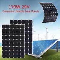 KINCO 170W 29V Semi Flexible Solar Panel Monocrystalline Silicon Sunpower Solar Cell DIY Power System For Car Battery Charger