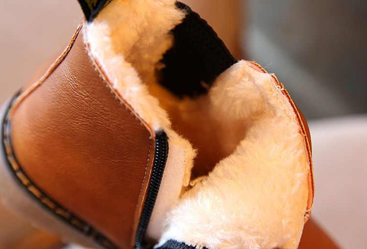 Herfst Winter Kinderen Laarzen Schoenen Jongens Meisjes Motorlaarzen Mode Pluche Enkellaars Kinderen Sneakers Snowboots Schoenen