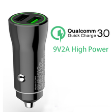Phone Car Charger Adapter for Cigarette Lighter Socket 3.0A Fast Charging dual usb 12-24V in car universal charger