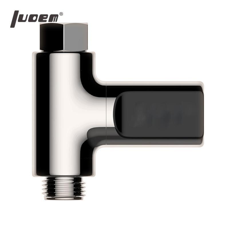 LUOEM LED Numérique Douche Thermomètre Batterie Livraison En Temps Réel De L'eau Temperature Monitor (Couleur de Placage) dans Température Jauges de Maison & Jardin