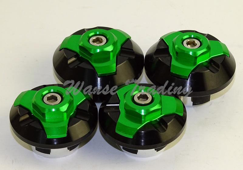 waase 4pcs CNC Frame Hole Cap Cover Plug Low & Up para Kawasaki Ninja - Accesorios y repuestos para motocicletas - foto 5