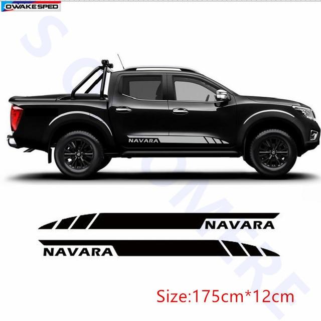 Car Styling Door Side Skirt Stripes Auto Body Decor Sticker Sport Vinyl Decals For Nissan NAVARA Auto Accessories