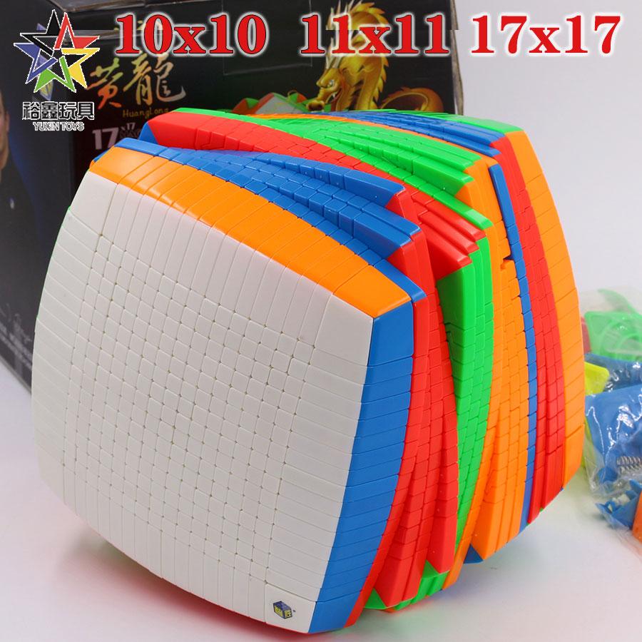 Magic cube puzzle YuXin HuangLong 10x10x10 11x11x11 17x17x17 10x10 11x11 17x17 high level difficult educational twist wisdom toy