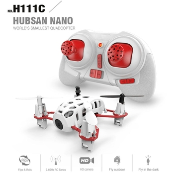 Hubsan H111C Nano RC Helicopter 4CH RTF 2.4G 6 Axis Gyro RC Quadcopter 480P HD Camera 360 Degree Rollover Drone Xmas Gifts