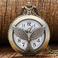 Fashion Jewelry the hunger game Retro Necklace Pocket watch new russia hunger games pocket watch bronze vintage cool bird