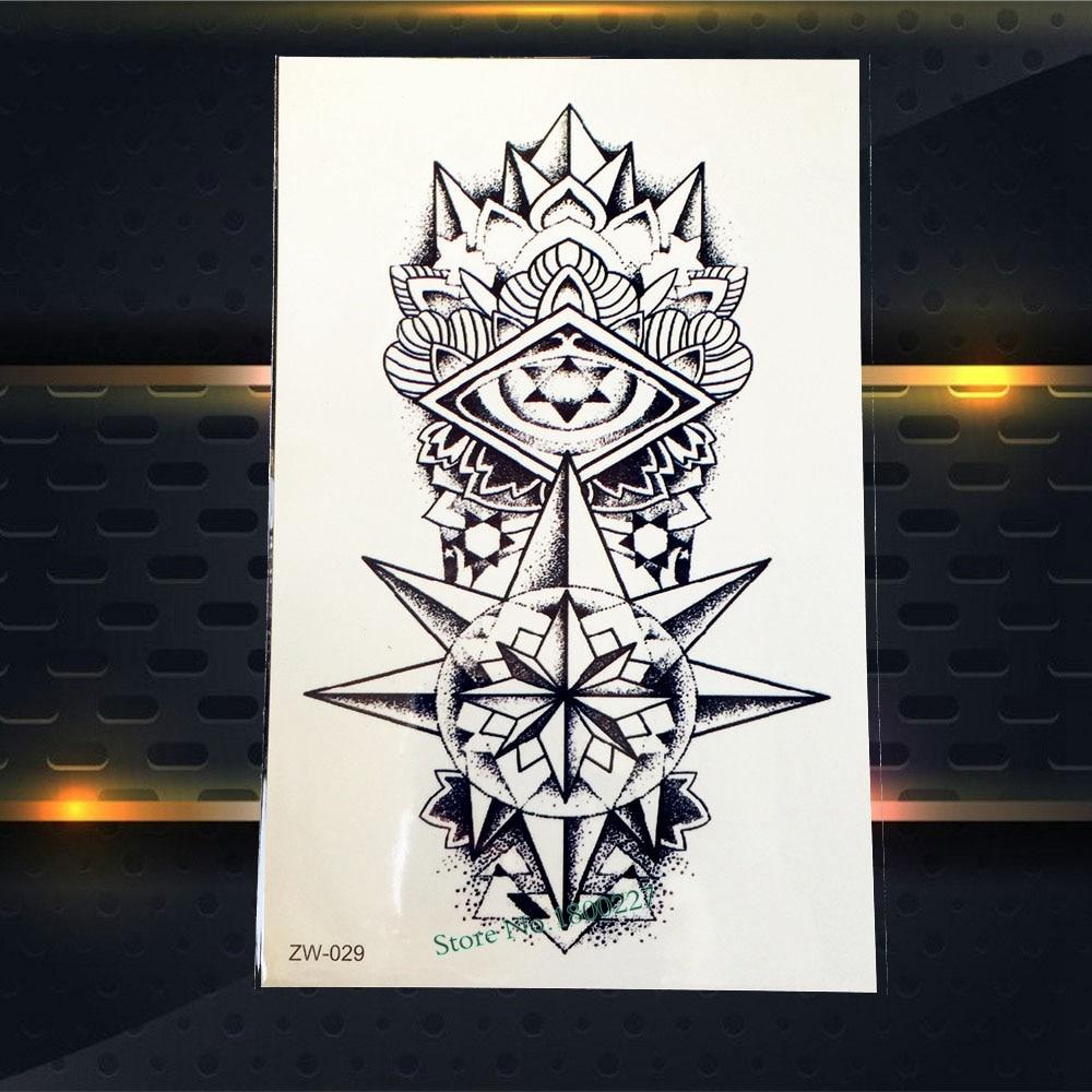 1PC Flash Temporary Tattoo Sticker Diamond Crystal Flower Arm Tattoo Sleeve Waterproof Body Leg Art Fake Tattoo Stickers PZW-029