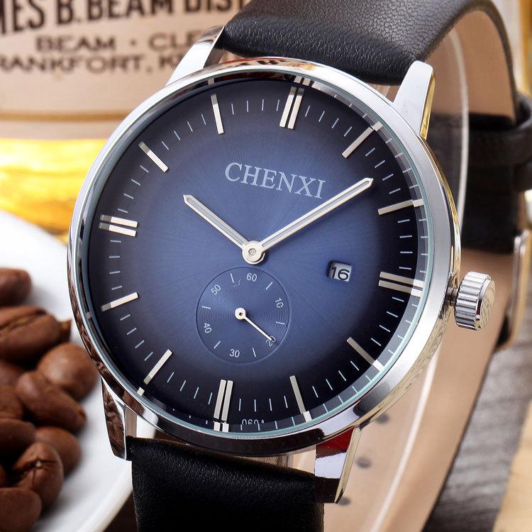 075c788ffc9 Novos Homens Relógios Top Marca CHENXI Luxury Men Quartz Relógio de Couro  Casual Esporte Militar Relógios Masculino Relógio Relogio masculino