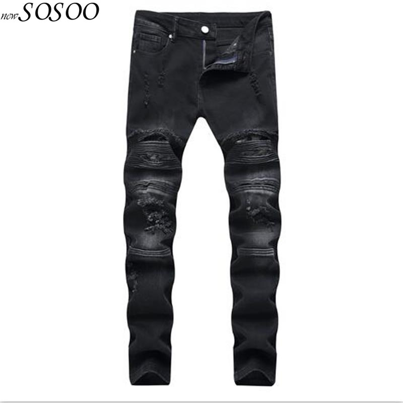 2018 new man jeans black summer dress fear of god knees holes and spliced Male Casual jeans hip hop skinny jeans men #1209 harajuku new fashion women casual high waisted casual holes skinny jeans