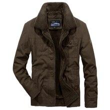 Осень-зима, мужская куртка, Военный стиль, бренд AFS JEEP, парка, мужская, утолщенная, флисовая, с хлопковой подкладкой, парка hombre размера плюс 4XL