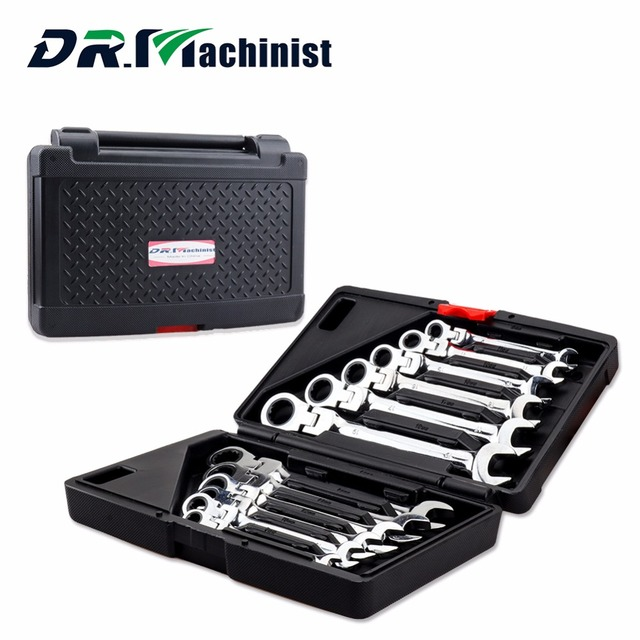 DR.Machinist Carbon Steel 12pcs Set Speed Dual-purpose Ratchet Wrench Set 72 Teeth of Hardware Car Repair Combination Tool