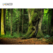 Laeacco Jungle Green Tree  Forest Moss Natural Scenic Photography Backdrops Photographic Backgrounds Photocall Photo Studio