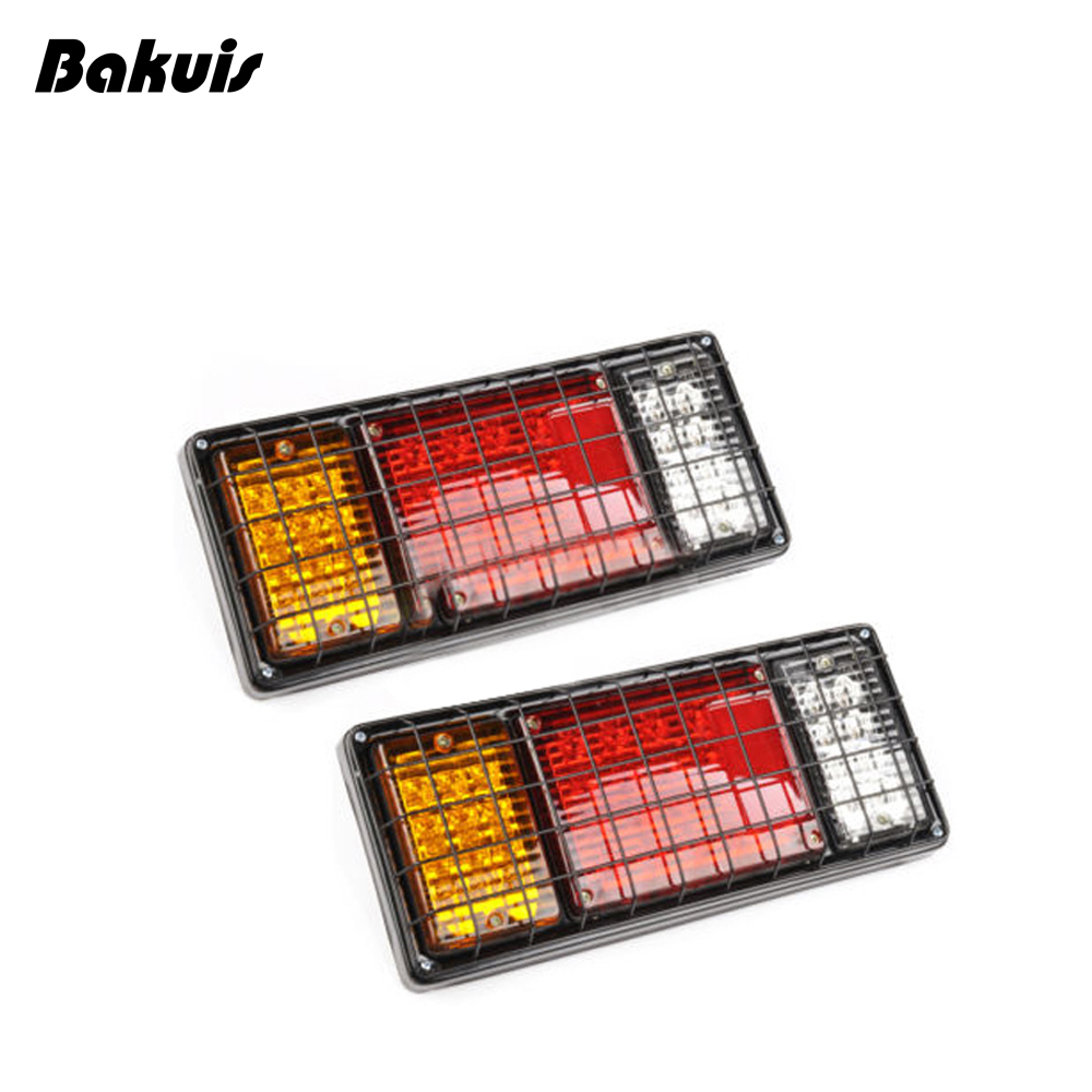 2Pcs Waterproof Car LED Tail Light Rear Lamps Pair Boat Trailer 12V Rear Parts For Trailer