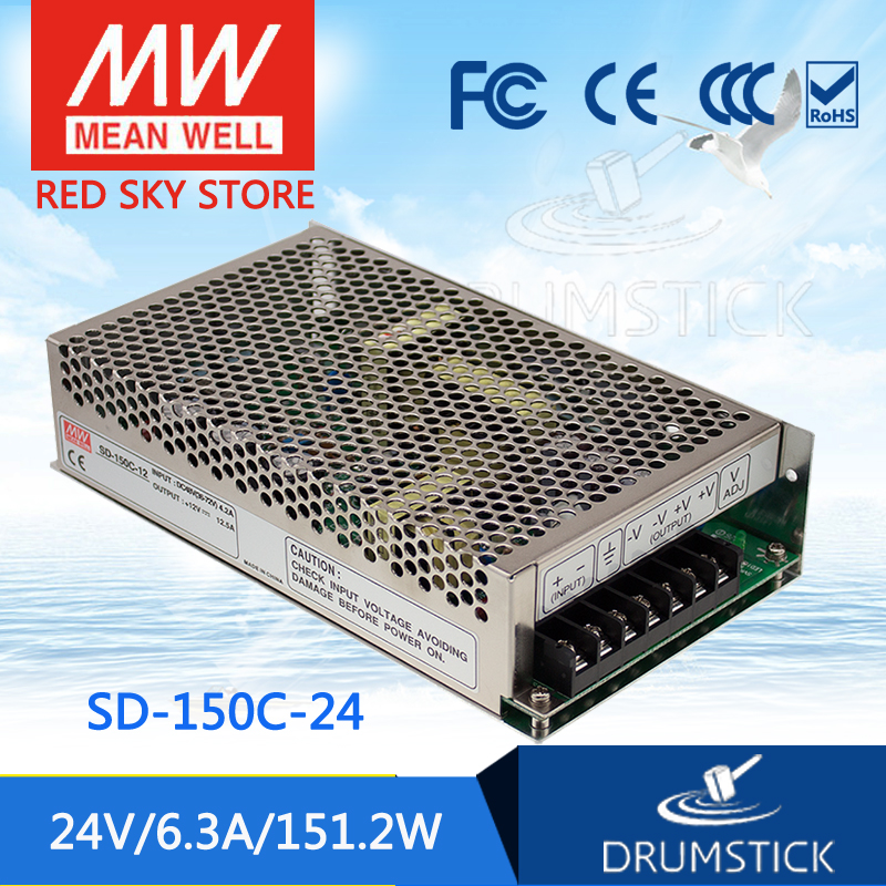 Selling Hot MEAN WELL SD-150C-24 24V 6.3A meanwell SD-150 24V 151.2W Single Output DC-DC Converter цена 2017