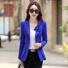 75162a0c9d Kobiety Blazer 2019 nowa jesień koreański moda czarny długi rękaw szczupłe  panie kurtki Blazer Casual Femme odzież wierzchnia pl.