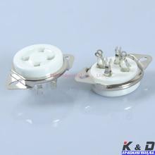 2PCS 4Pin Base Ceramic Amplifier parts Tube Socket