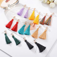Big Shiny AAA Zircon Long Tassel Earrings for Women Colorful Red Blue Fringed Drop Earrings Party Jewelry Gifts for Girls(China)