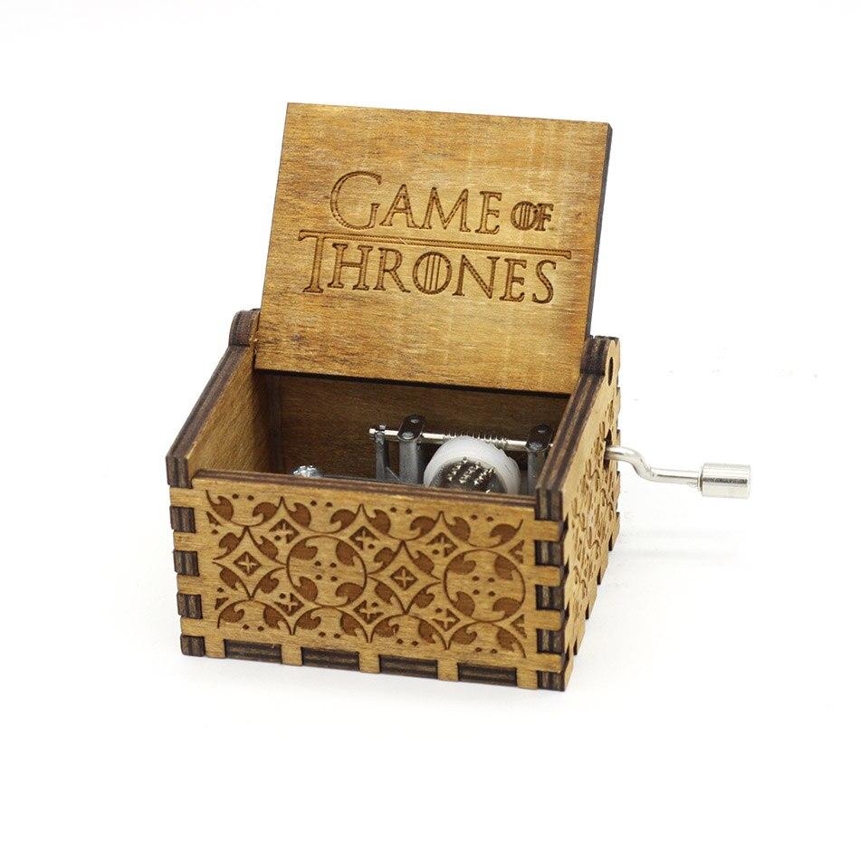 Деревянная музыкальная шкатулка для игры в трон, подарок на Рождество, день рождения, год, подарок для детей - Цвет: GOT