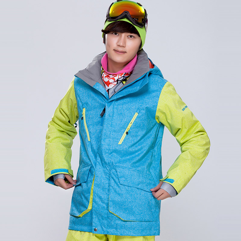 Gsou Snow Man Skiing Jacket Snowboard Windproof Waterproof Warm Coat Outdoor Sport Wear Riding Camping Hiking Thermal Clothing