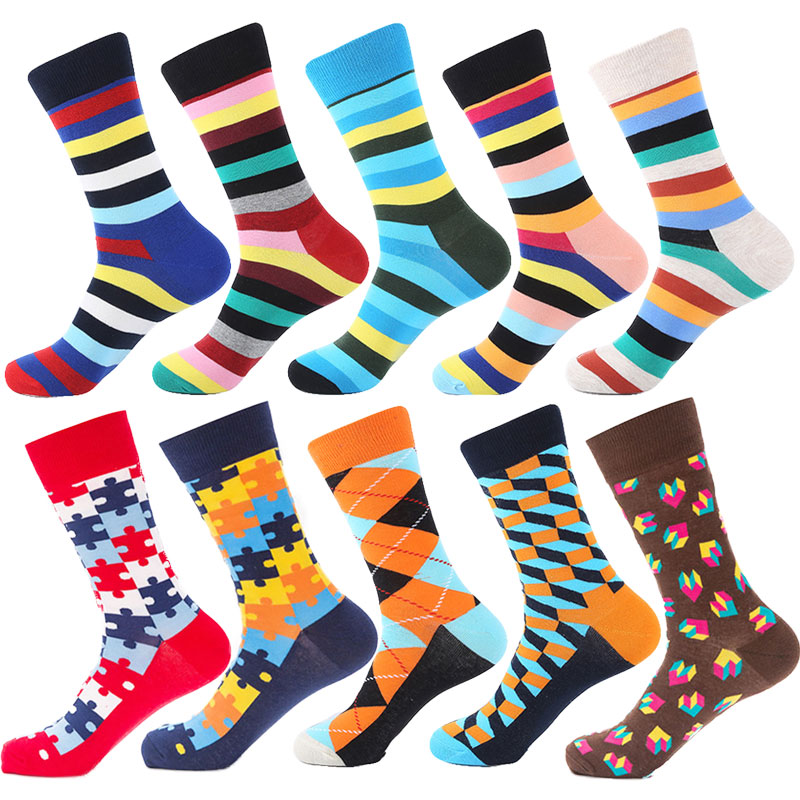 Cotton Men Women Happy Funny Stripes   Socks   Crew Pattern Hip Hop Art stripe   Socks   Long Short Casual Harajuku Novelty   Socks