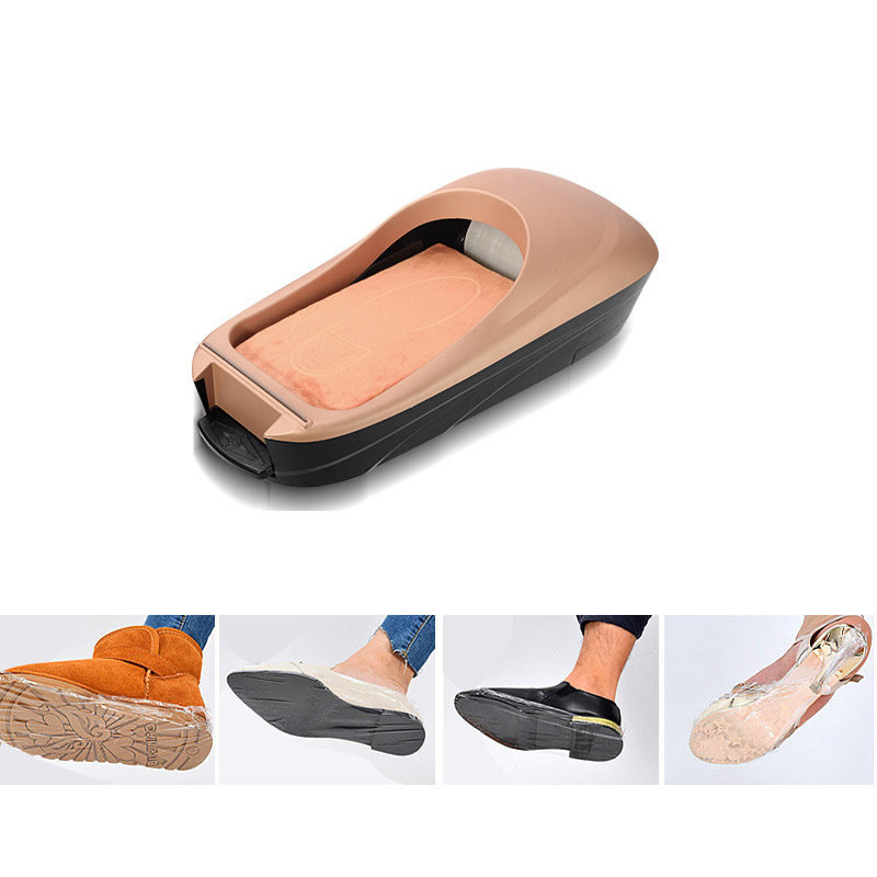 Full Automatic Shoe Cover Machine Househeld New Disposable Shoe Cover Dispenser Office Shoes Film Machine Shoe Cover Box smart automatic shoe cover machine non need electricity easy to stall skid resistance bottom