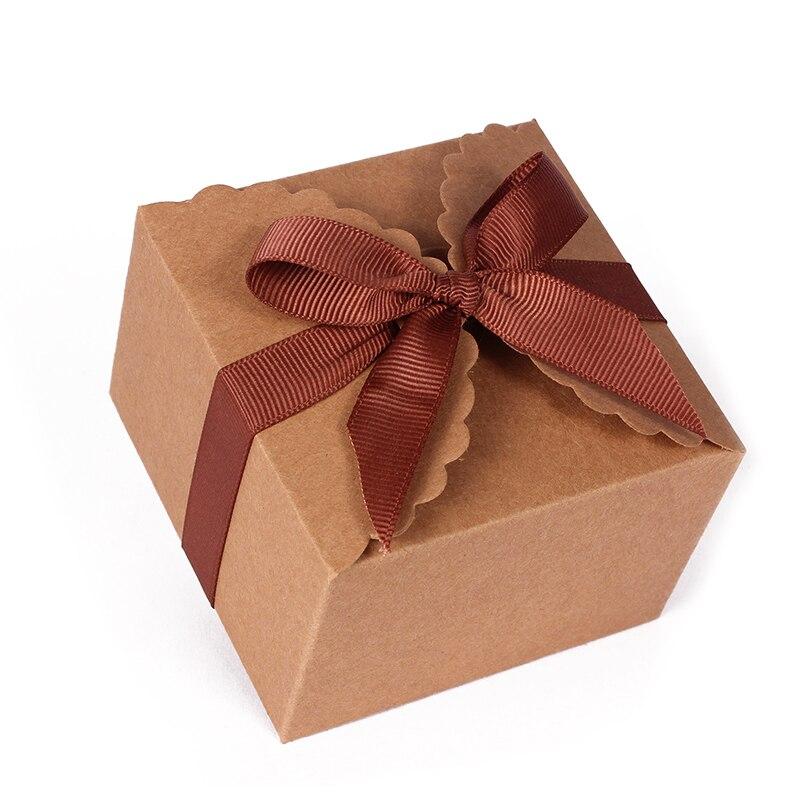 50 pièces cadeau personnalisé boîte de gâteau de mariage rustique personnalisé vos noms et Date boîte de cadeau de faveur de mariage