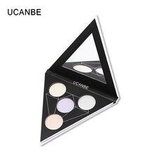 UCANBE Brand New Triangle Face Highlighter Powder Makeup Palette Illuminator Heaven's Hue Aurora Highlighter Brighten Cosmetics