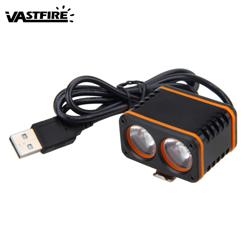 Waterproof 6000LM 2*XM-L T6 LED Front Bicycle Light 3 Modes Cycling Handbar Head Lamp Beam Range 200m Headlamp No Battery