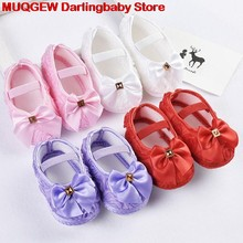 New Rose Bowknot Elastic Chaussure Comfortable Sneakers First Walkers Baby Moccasins Baby Shoes Sapatos Infantil Menina Menino(China)