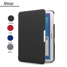 4 color ultra slim case cho s amsung galaxy tab 4 10.1 t530 t531/nook barnes & noble smart cover case với magnetic auto ngủ(China)